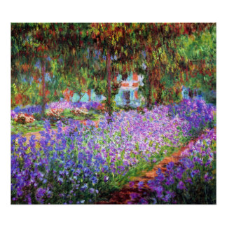 The Artist's Garden at Giverny, Claude Monet Poster