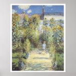 The Artist's Garden at Vetheuil, 1880 Claude Monet Poster