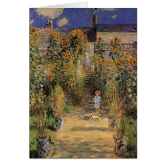 The Artist's Garden at Vetheuil by Claude Monet Greeting Card