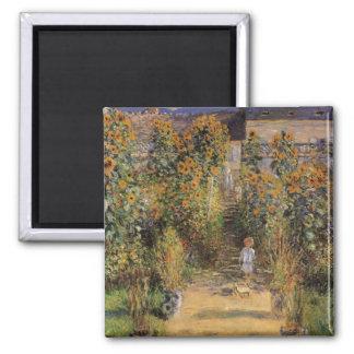The Artist's Garden at Vetheuil by Claude Monet Magnet