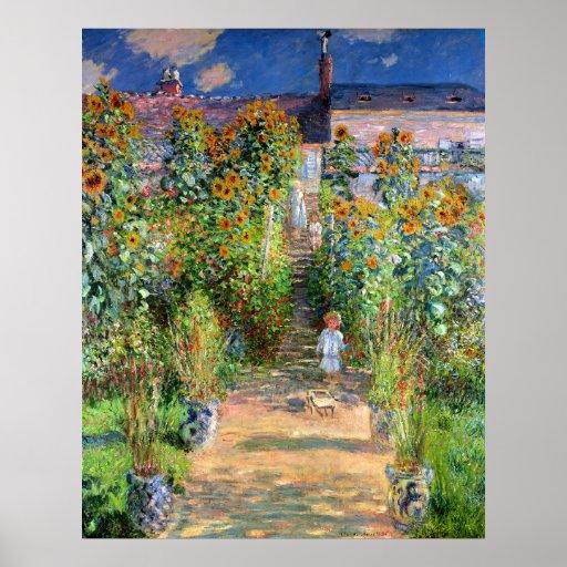 The Artist's Garden at Vetheuil, Claude Monet