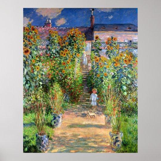 The Artist's Garden at Vetheuil, Claude Monet Poster