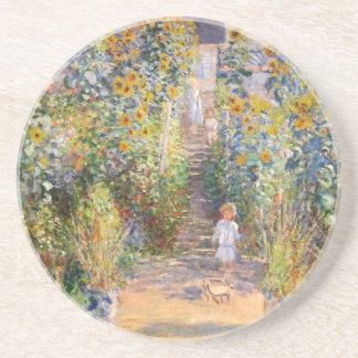 The Artist's Garden by Claude Monet Coaster