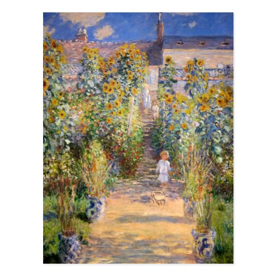 The Artist's Garden by Claude Monet Postcard