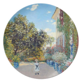 The Artist's House at Argenteuil Plates