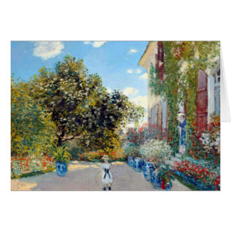 The Artist's House by Claude Monet Card