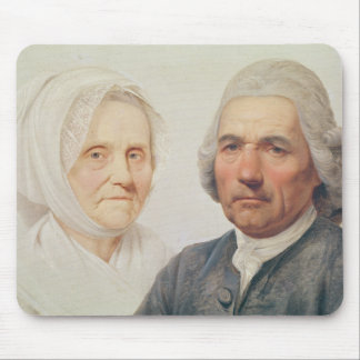 The artist's parents (oil on canvas) mouse pad