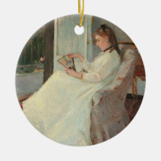 The Artist's Sister at a Window, 1869 Christmas Ornament