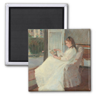 The Artist's Sister at a Window, 1869 Square Magnet