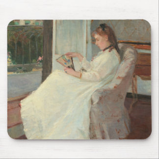 The Artist's Sister at a Window, 1869 Mouse Mat
