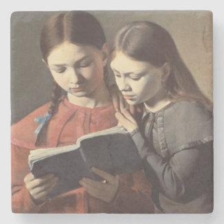 The Artist's Sisters Signe and Henriette Stone Coaster