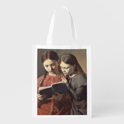 The Artist's Sisters Signe and Henriette Reusable Grocery Bag