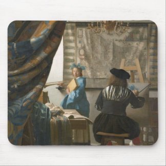 The Artist's Studio, c.1665-66 (oil on canvas) Mouse Mat