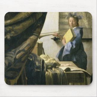 The Artist's Studio, c.1665-6 Mouse Mat