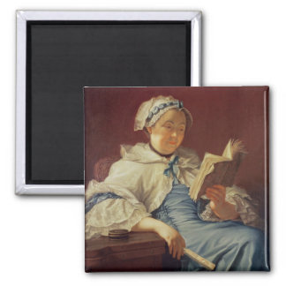 The artist's wife, 1758 (oil on canvas) magnet