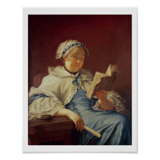 The artist's wife, 1758 (oil on canvas) poster