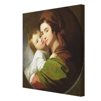 The Artist's Wife, Elizabeth, and their son Raphae Stretched Canvas Prints