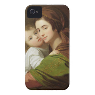 The Artist's Wife, Elizabeth, and their son Raphae iPhone 4 Case