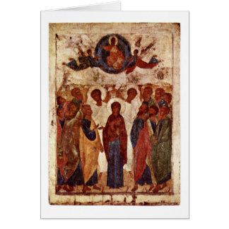 The Ascension By Andrei Rublev Card