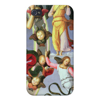 The Ascension of Christ, detail of Christ and musi iPhone 4 Covers
