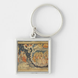 The Ascension of the Lamb Silver-Colored Square Key Ring