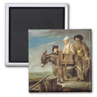 The Ass (oil on canvas) Square Magnet