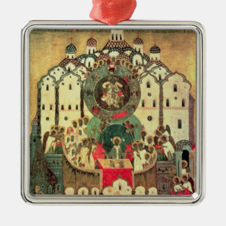 The Assembly of Angels Silver-Colored Square Decoration