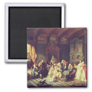 The Assembly under Peter the Great Square Magnet