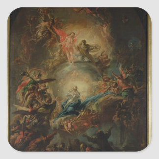 The Assumption, c.1695 Square Sticker