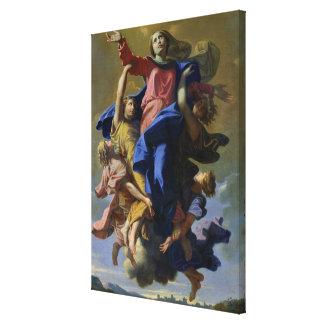 The Assumption of the Virgin, 1649-50 Canvas Print