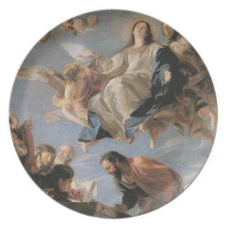 The Assumption of the Virgin, 1673 (oil on canvas) Dinner Plate