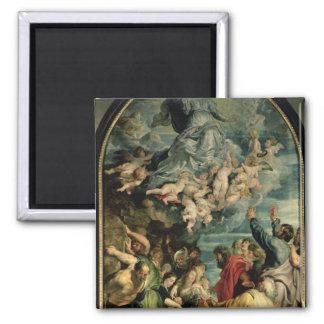 The Assumption of the Virgin Altarpiece, 1611/14 Square Magnet