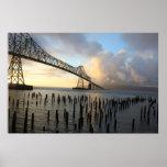 The Astoria-Megler Bridge At Sunset Poster