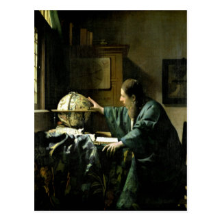 The Astronomer, 1668 Postcard