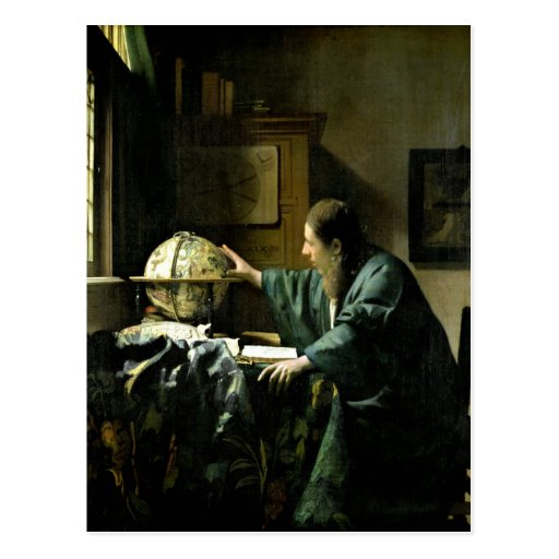 The Astronomer, 1668 Post Card