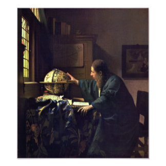 The Astronomer by Johannes Vermeer Photograph