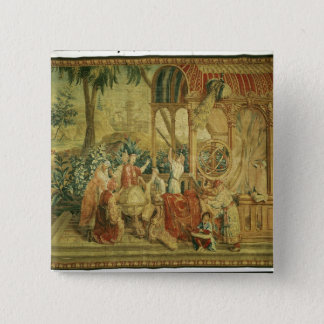 The Astronomers, woven at Beauvais 15 Cm Square Badge
