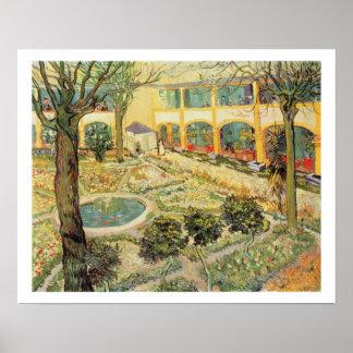 The Asylum Garden at Arles, 1889 (oil on canvas) Poster