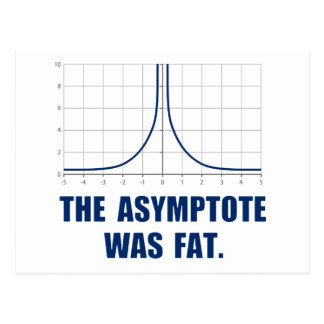 The Asymptote was Fat Postcard