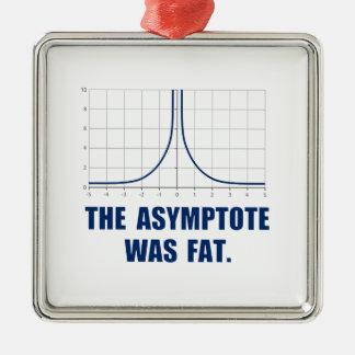 The Asymptote was Fat Silver-Colored Square Decoration