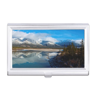 The Athabasca River in Jasper National Park Business Card Holder