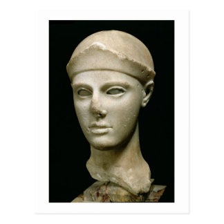 The Athena of Aegina, wearing a helmet, head of a Postcard