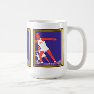 The athlete, from a vintage advertisement coffee mug