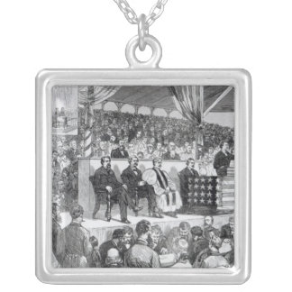 The Atlanta International Cotton Exposition Silver Plated Necklace