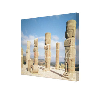 The atlantean columns on top of Pyramid B Canvas Print