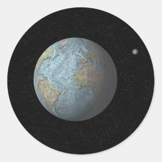 The Atlantic Basin Round Sticker
