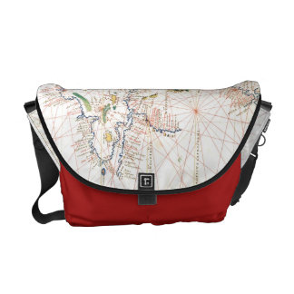 The Atlantic Chart Courier Bags