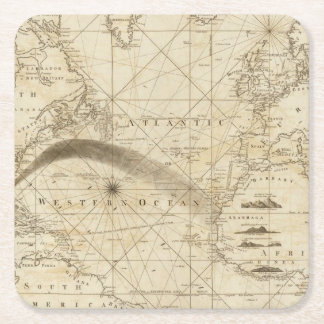 The Atlantic Ocean Square Paper Coaster