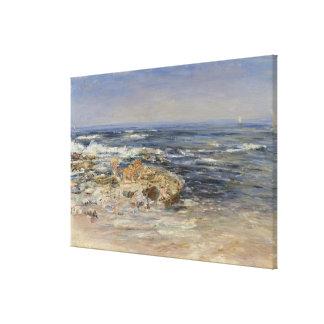 The Atlantic Surf, 1899 (oil on canvas) Canvas Print