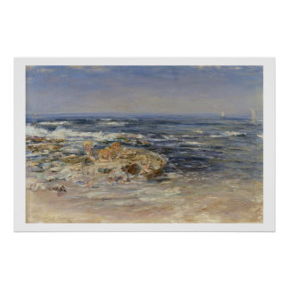 The Atlantic Surf, 1899 (oil on canvas) Poster